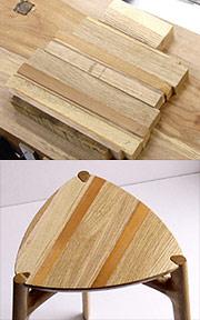 端材から生まれる固有パターン